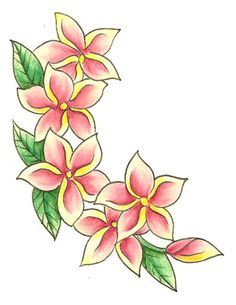 Image result for drawing tropical flowers tiki style