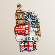 Glass London View Ornament
