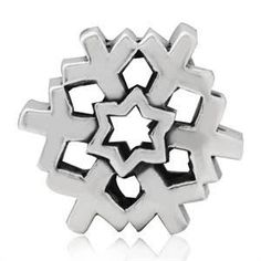 sterling snowflake bead - Google Search