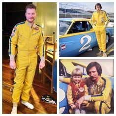 """""""I tried on Daddy's 1979 rookie firesuit a while back.  Smelled every bit of 36 years old."""" Dale Earnhardt Jr"""