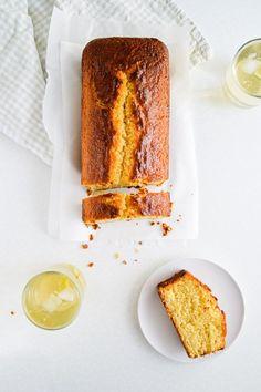 Kiwi lime loaf cake with yogurt
