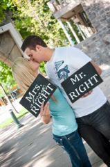 Mr Right & Mrs Always Right  wedding/engagement photo by invinyl