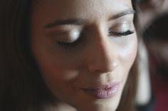 Um closer na maquilhagem dos olhos da Francisca no desenvolvimento do projeto 100 mulheres/100 maquilhagens.