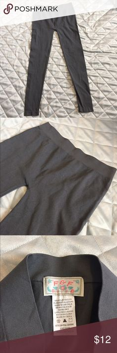 NWOT F&F tights/leggings NWOT F&F (boutique) tights/leggings long in gray.  These are one size fits most.  I think they are pretty sheer when you put them on is why I call them tights so you can wear under long shirts/sweaters/dresses. F&F Pants Leggings