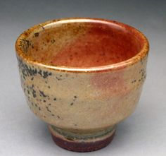 Shino Glazed Stoneware Cup for Sake or Tea  by jeffbrownpottery,
