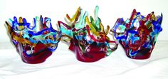 Fused Glass Candle Holders