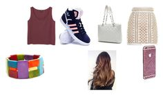 """""""Untitled #624"""" by twentyonepilots16 ❤ liked on Polyvore featuring Monki, Balmain, adidas, Chanel, Encanto, women's clothing, women, female, woman and misses"""