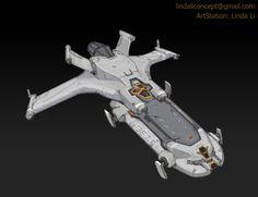 Spaceship Design by Linda Li on ArtStation. Spaceship Art, Spaceship Design, Concept Ships, Concept Art, Linda Li, Planes, Airplane Drawing, Space Fighter, Starship Concept