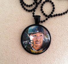 Oakland Athletics Kurt Suzuki Necklace by QUEENBEADER on Etsy, $16.25