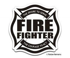 Truckie Sticker Firefighter And Firefighting - Fire helmet decals