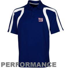 6764124be NFL Antigua New York Giants Point Polo - Royal Blue New York Giants