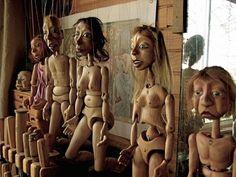 groupe de 5 marionnettes (Peinture) par Pierre Chassaing