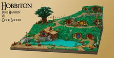 This huge LEGO diorama brings Hobbiton to life Hobbit Hole, The Hobbit, Lego Sculptures, Hama Beads Minecraft, Perler Beads, Lego Games, Lego Castle, Lego Room, Lego News