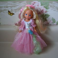 Vintage 1980s toy, Lady Lovely Locks doll with pixie tails  comb, shoes and dress.. $43.00, via Etsy.