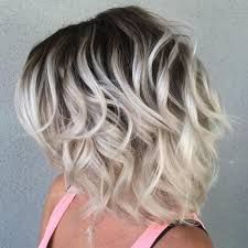 Imagini pentru Short curly bob hairstyles with side bangs for thick hair with dark brown blonde hair color