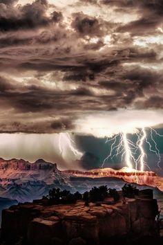 Lightning Storm rough desert mesa bluff canyons