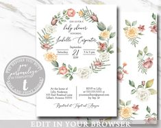 Bohemian Girl Baby Shower Invitation EDITABLE Botanical Floral Greenery Flowers Modern Rustic Printable Template, BABY1008 Online Printing, Baby Shower Invites For Girl, Baby Shower Invitations, Etsy Cards, Bohemian Girls, Diaper Raffle Tickets, Photo Center