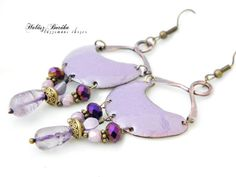 Hey, I found this really awesome Etsy listing at https://www.etsy.com/listing/202990785/enamel-earrings-lavander-copper