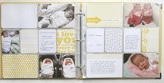 Lots of layout ideas Project Life baby editions are here! love this spread by Design Editor Project Life Scrapbook, Project Life Layouts, Baby Scrapbook, Project Life Baby, Pocket Scrapbooking, Baby Kit, Baby Album, Photo Projects, Life Inspiration