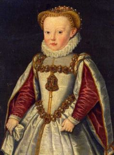 Portrait de Katharina Renate von Innerösterreich, dite Catherine d'Autriche, fille de Ernest von Habsburg, duc d'Autriche
