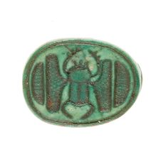 Scarab Inscribed with a Hieroglyphic Motif | New Kingdom Dynasty 18, early Joint reign of Hatshepsut and Thutmose III  | The Met