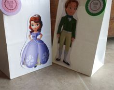 Sophia the first and prince James party bags por Suziiscreations