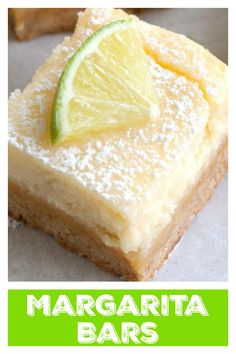 These margarita dessert bars are creamy with a sweet lime flavor. They are always a huge hit at any party. Thanksgiving Desserts Easy, Quick Easy Desserts, Summer Dessert Recipes, Winter Desserts, Christmas Desserts, Mexican Dessert Recipes, Single Serve Desserts, Desserts For A Crowd, Great Desserts