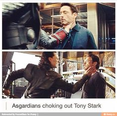 Actual proof the Asgardians are #TeamCap (lol just kidding but really)