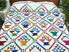 sampler quilts | Basket Sampler Quilt -- wonderful meticulously made Amish Quilts from ...