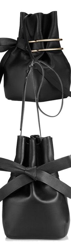 "Jimmy Choo ""Eve"" Black Nappa Leather Bucket Bag   LOLO      ᘡղbᘠ"