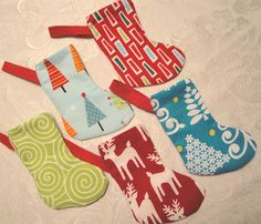 Christmas stocking ornaments by Emerson Gray, via Flickr
