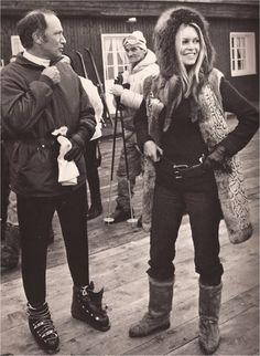 Pierre Eliot Trudeau and Brigitte Bardot - Avoriaz,1973