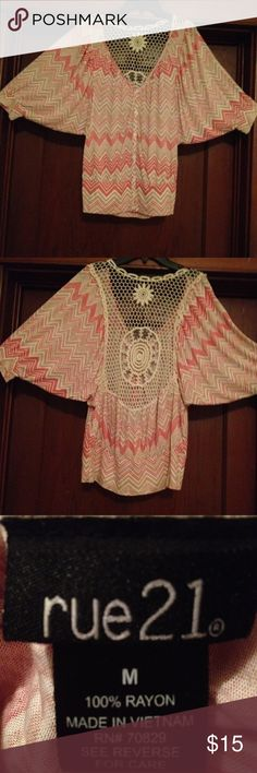 rue 21 top size M. Rue 21 top with crochet open back. Size M. Rue 21 Tops Blouses