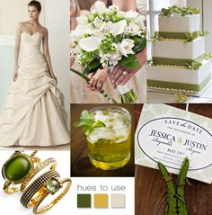 Emerald inspired design.   #green #wedding #inspiration