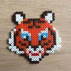 Tiger hama beads by perlepige