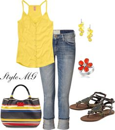 Sunshine Day, created by romigr99 on Polyvore