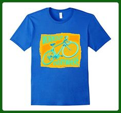 Mens Cycling Gift Idea - Work Out Everywhere Cyclist Tshirts 2XL Royal Blue - Workout shirts (*Amazon Partner-Link)