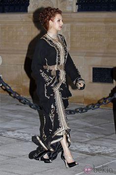 Salma de Marruecos en la cena de gala previa a la boda de Guillermo y Stéphanie