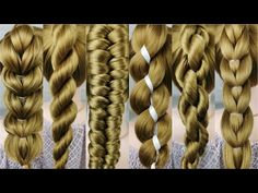 9 simple braids from only 2 strands. Very easy! 1 minute braids. - YouTube Beauty Bar, Beauty Makeup, Hair Beauty, Beauty Stuff, Simple Braids, Crochet Stitches Free, New Haircuts, Great Hair, Hair Dos
