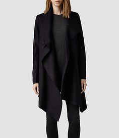 Women's City Monument Coat (Black) - All Saints Allsaints Style, Punk Fashion, Womens Fashion, All Saints, Coats For Women, Fashion Online, What To Wear, Style Me, Street Style
