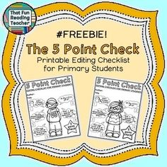 This free printable editing checklist was designed with early primary writers in mind with visual prompts! #free #printable