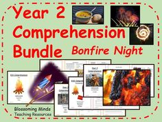 This bundle contains a collection of 4 comprehension booklets aimed at year The theme for the booklets is Bonfire Night. The four topics covered are: Th. Bonfire Night Safety, Bonfire Night Guy Fawkes, Bonfire Night Food, Christmas Music Quiz, Gunpowder Plot, Key Stage 1, Year 2, Comprehension, Fireworks