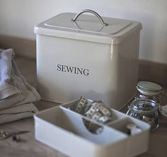 Enamel Sewing Box || A Place for Everything
