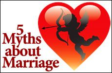 5 Myths about Marriage Marriage is hard, never go to bed angry, & other common myths. #RestoreMarriage #5steps