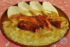 Šenkérska kapusta Slovak Recipes, Czech Recipes, Ethnic Recipes, Hummus, Ham, Cabbage, Good Food, Pork, Food And Drink