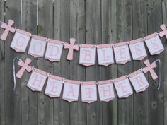 Baby Boy Baptism Reception Etsy 57 Ideas For 2019 Christening Banner, Baby Boy Christening, Baby Activities 1 Year, Infant Activities, Girl Baptism Party, Baptism Reception, Baby Nursery Diy, Crochet For Boys, Garlands
