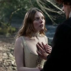 Jamie tells Laoghaire he has taken a vow and will not break it.  (Go away, Laoghaire!)
