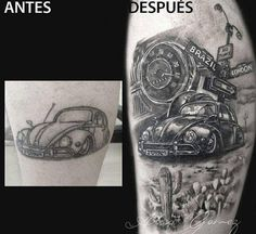 🐞 - VW ideas - Tattoo World Hot Rod Tattoo, Tattoo Platzierung, Car Tattoos, Sternum Tattoo, Tattoo Drawings, Tatoos, Beetle Tattoo, Daffodil Tattoo, Ink Art