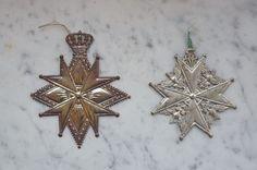 2 rare german dresden cardboard medals, cotillion medal, 1880 / 1900  (# 1597)