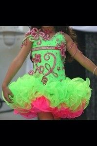 I love the neon colors Miss Pageant, Pageant Wear, Beauty Pageant, Glitz Pageant Dresses, Pagent Dresses, Girls Fancy Dresses, Pretty Dresses, Toddlers And Tiaras, Little Girl Outfits